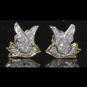 Jewelry - 0.25 ct Genuine Diamond Bird Earrings 10kt